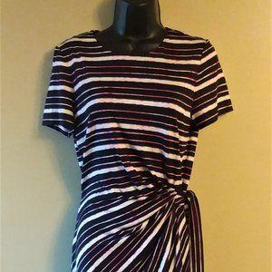 Diane Von Furstenberg Striped Pullover Dress